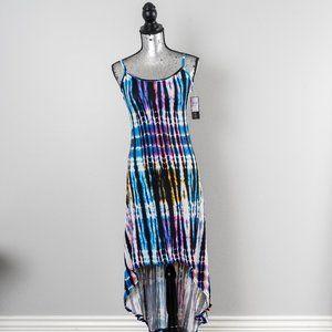 NWT Tie-Dye High-Low Spaghetti Maxi Dress - small